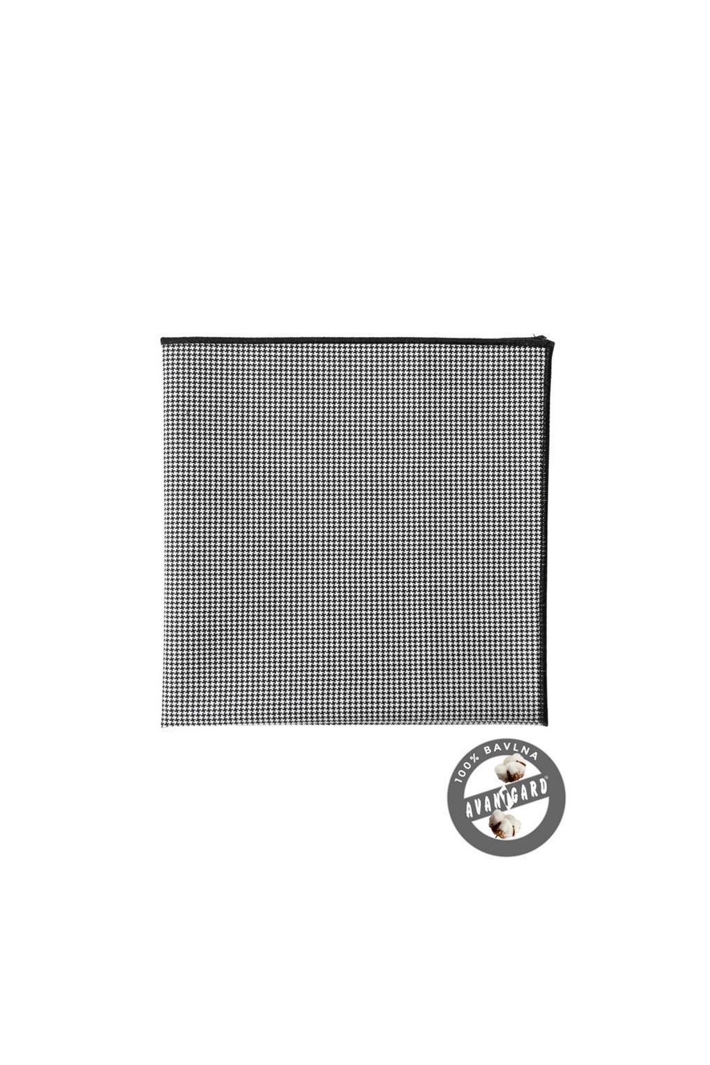 Kapesníček do saka LUX, 583-5080, Černo-bílá