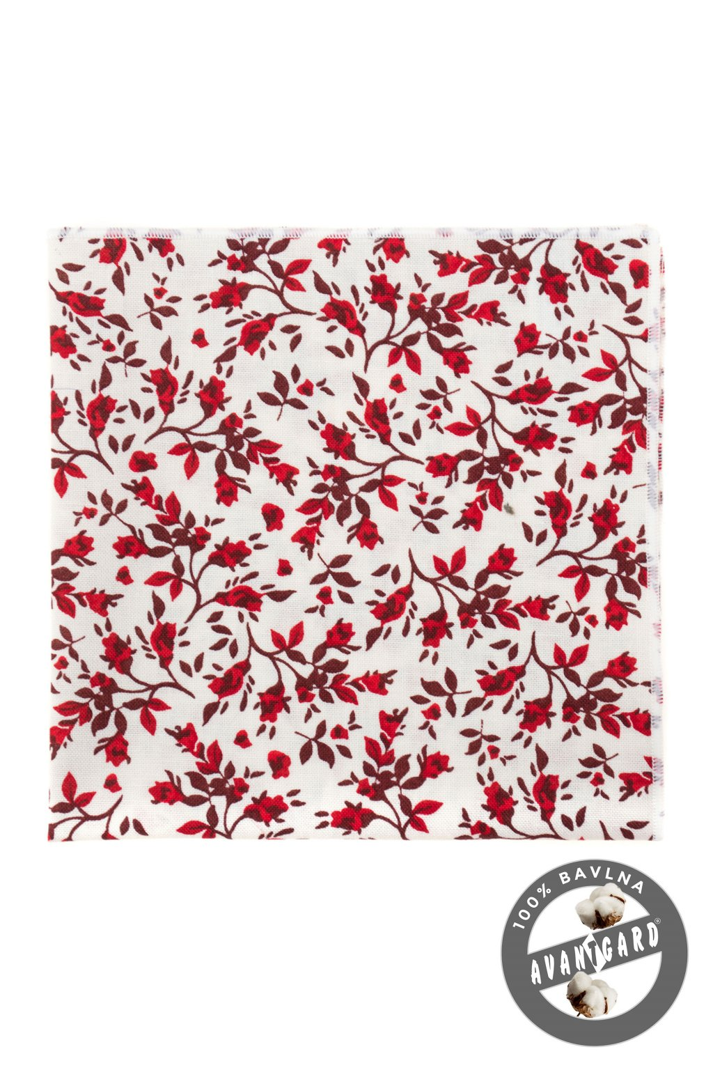 Kapesníček do saka LUX, 583-51030, Bílá/červená