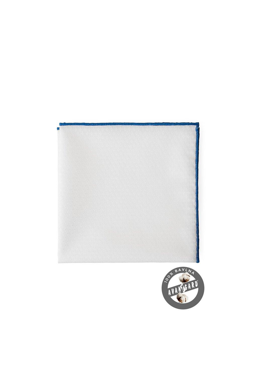 Kapesníček do saka LUX, 583-5115, Bílá/modrá