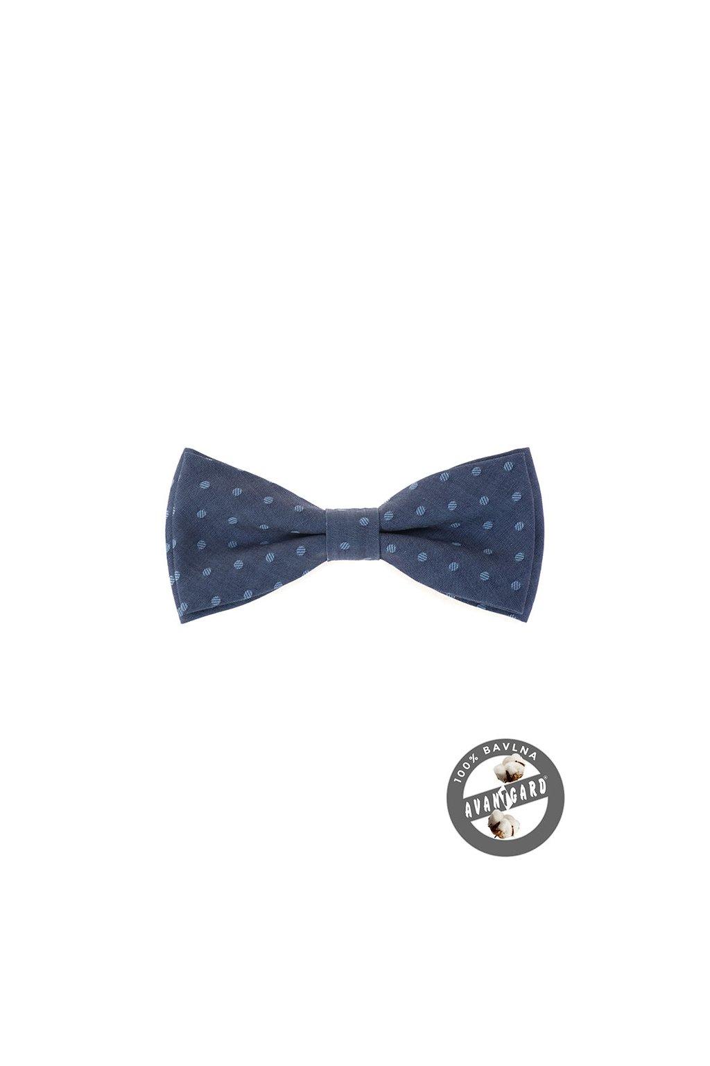 Motýlek PREMIUM bavlněný , 600-5151, Modrá