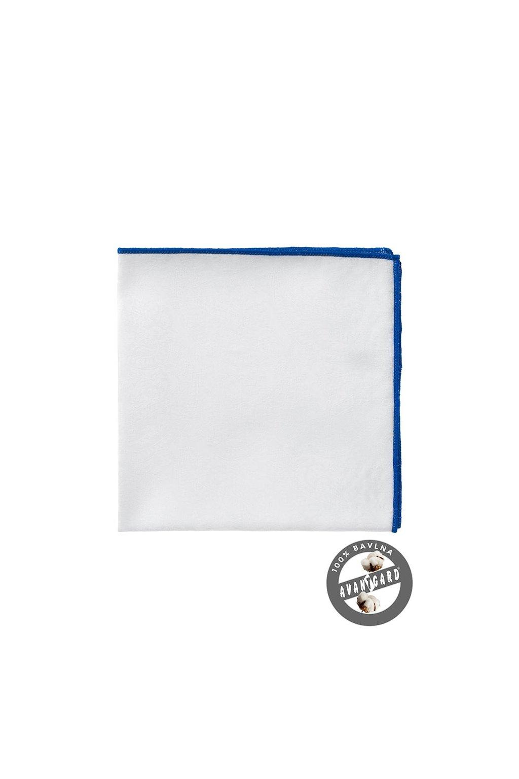 Kapesníček do saka LUX, 583-5184, Bílá/modrá