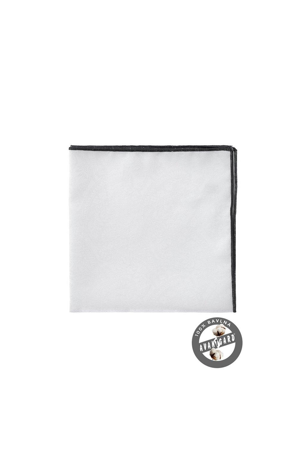 Kapesníček do saka LUX, 583-5186, Bílá/černá