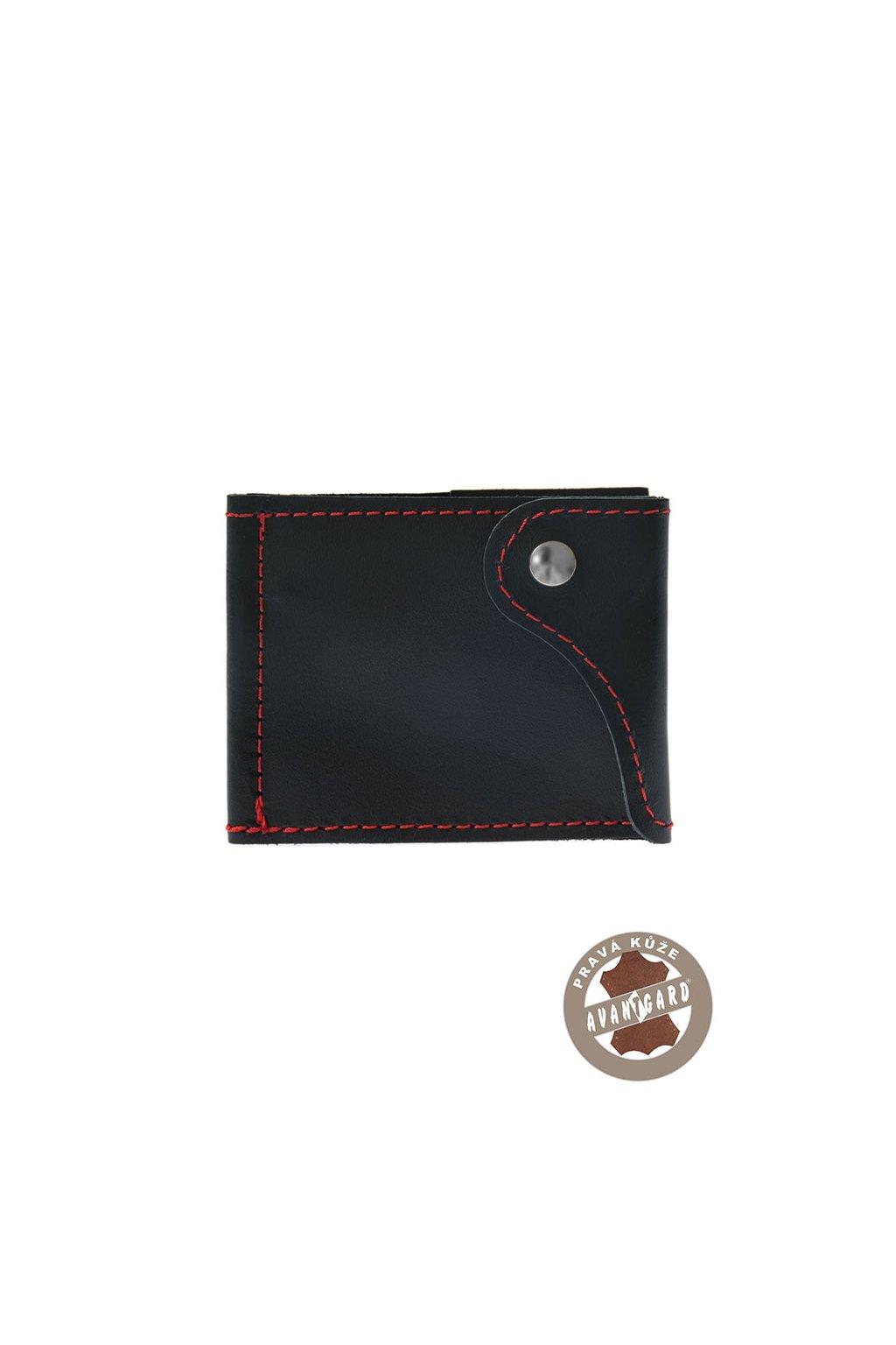 Pánská peněženka z pravé kůže, 800-3112, Modrá/červená