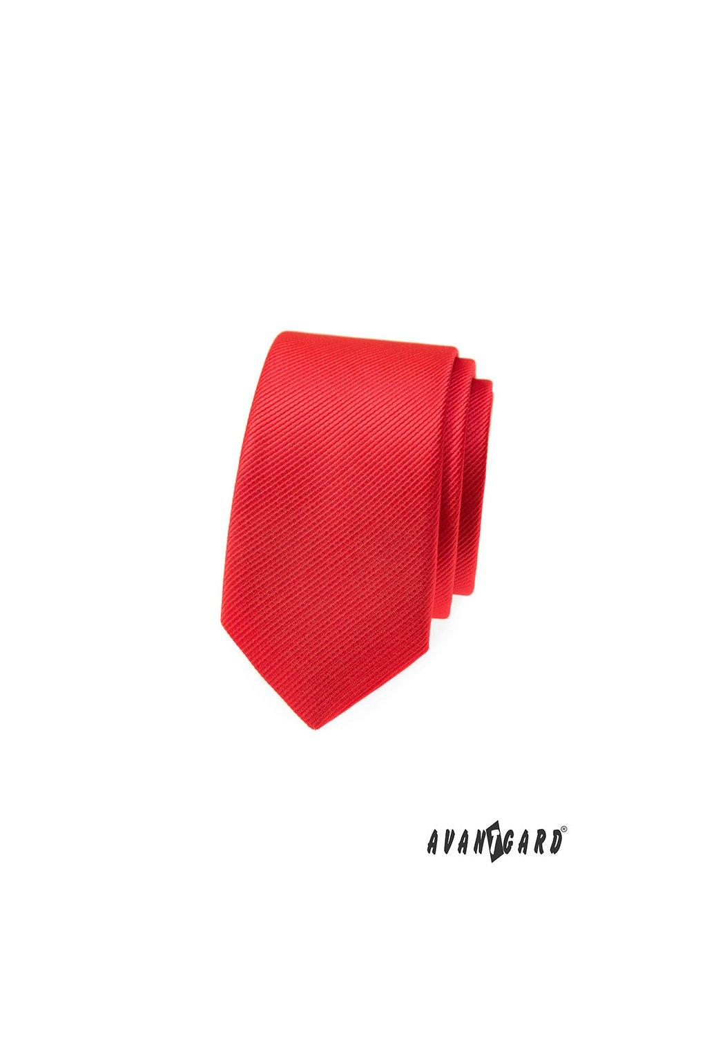 Kravata SLIM, 551-322, Červená