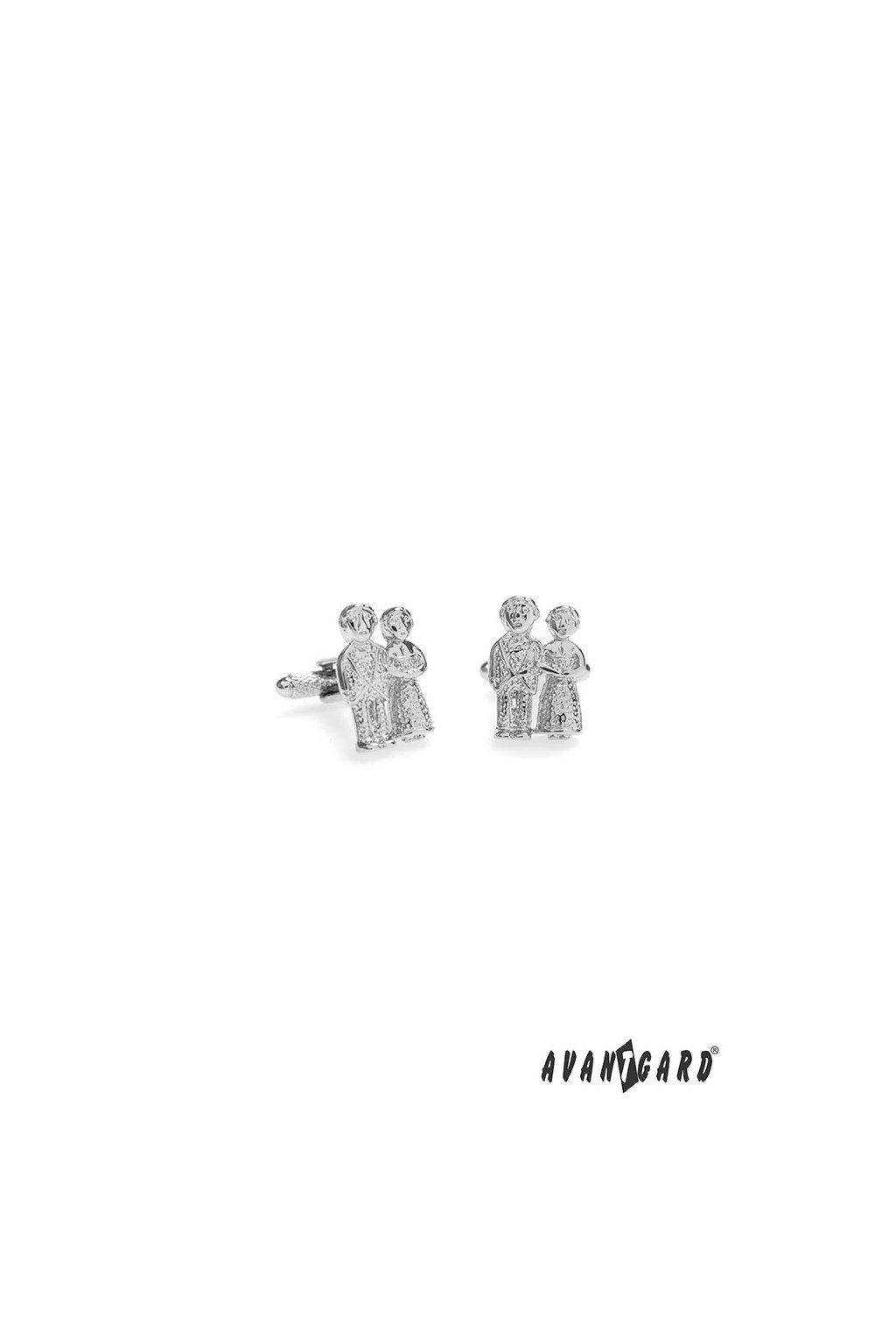 Manžetové knoflíčky LUX, 580-40030, Svatební pár - wedding