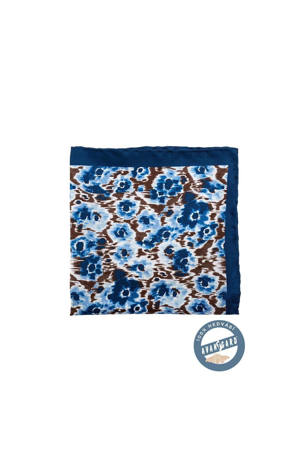 Kapesníček do saka hedvábný PREMIUM, 610-5586, Modrá