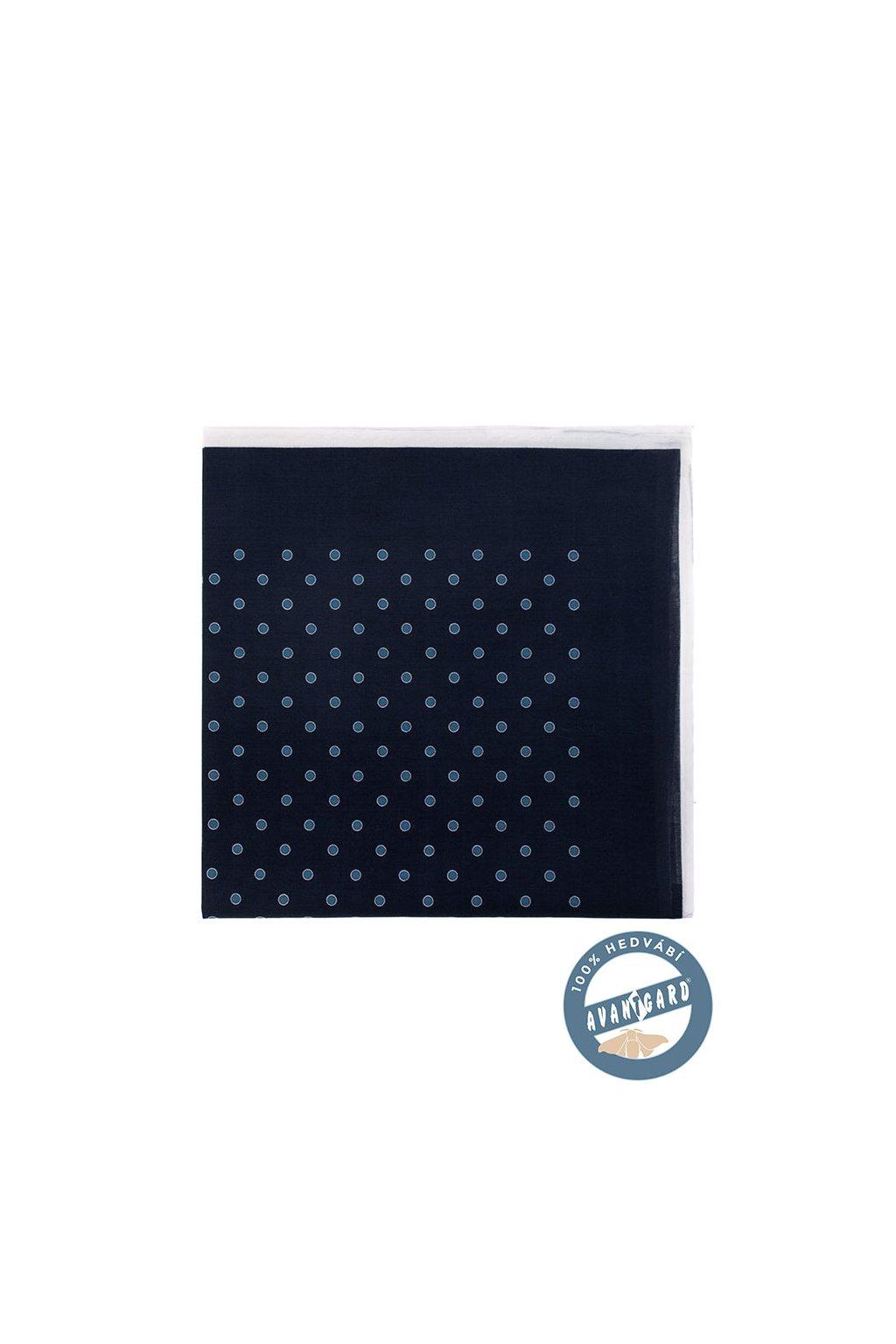 Kapesníček do saka hedvábný PREMIUM, 610-5667, Modrá