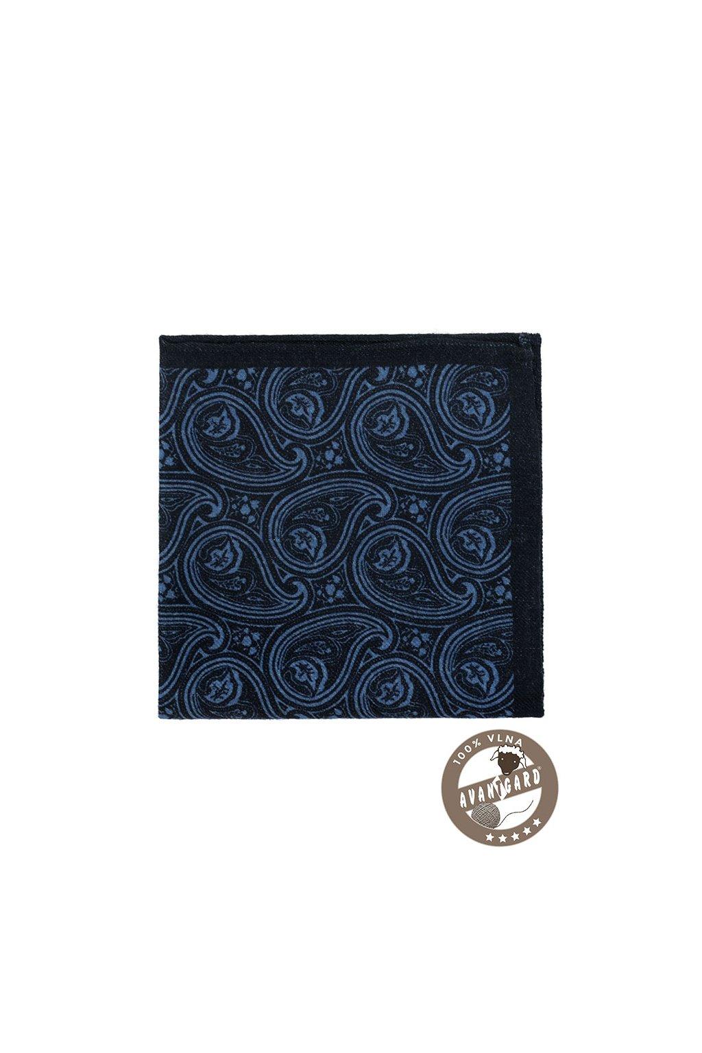Kapesníček do saka vlněný PREMIUM, 610-5694, Modrá