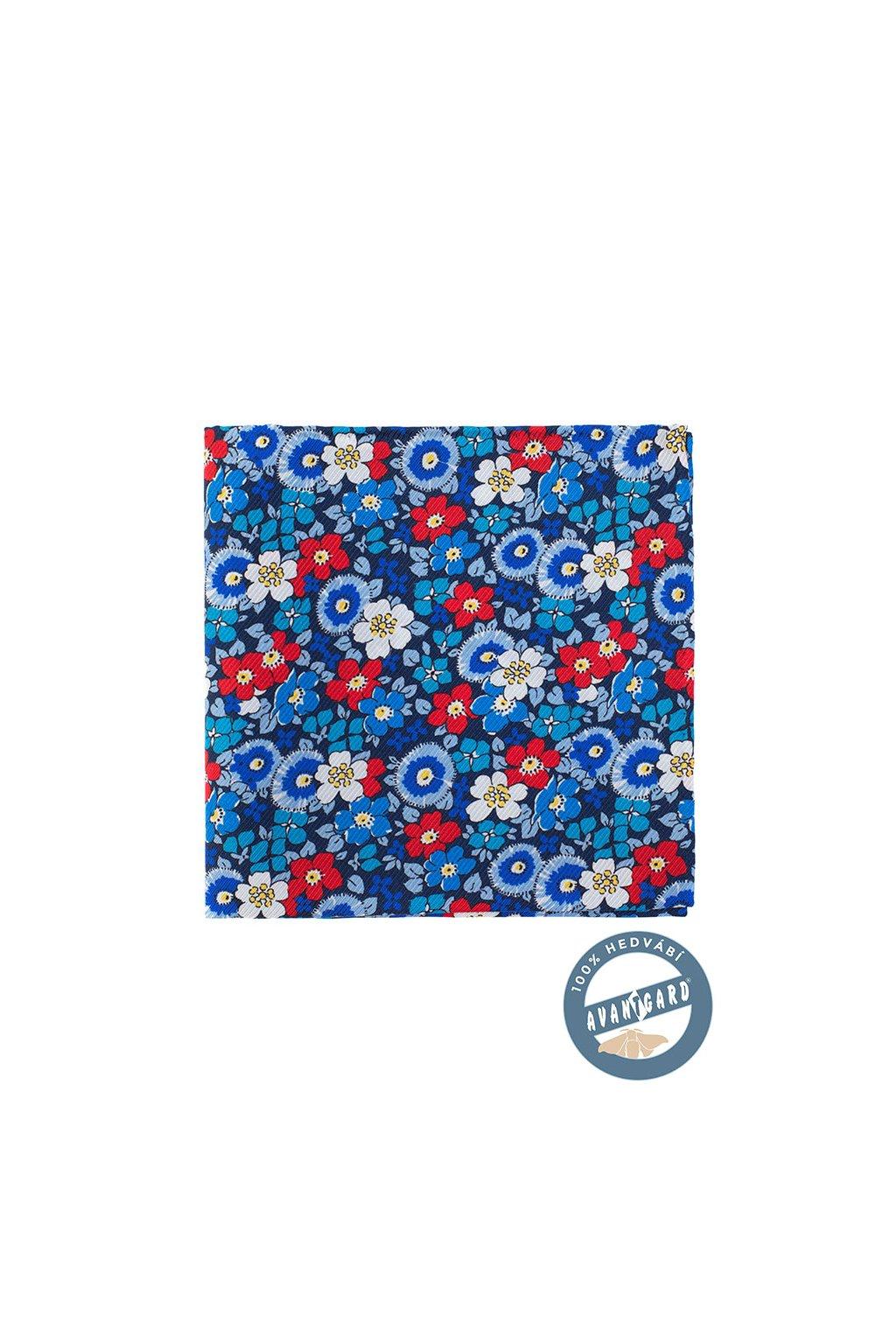 Kapesníček do saka hedvábný PREMIUM, 610-5715, Modrá