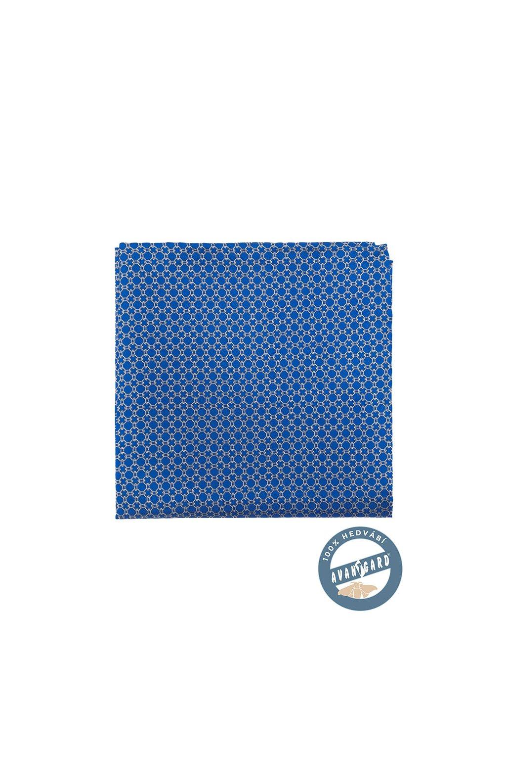 Kapesníček do saka hedvábný PREMIUM, 610-5721, Modrá