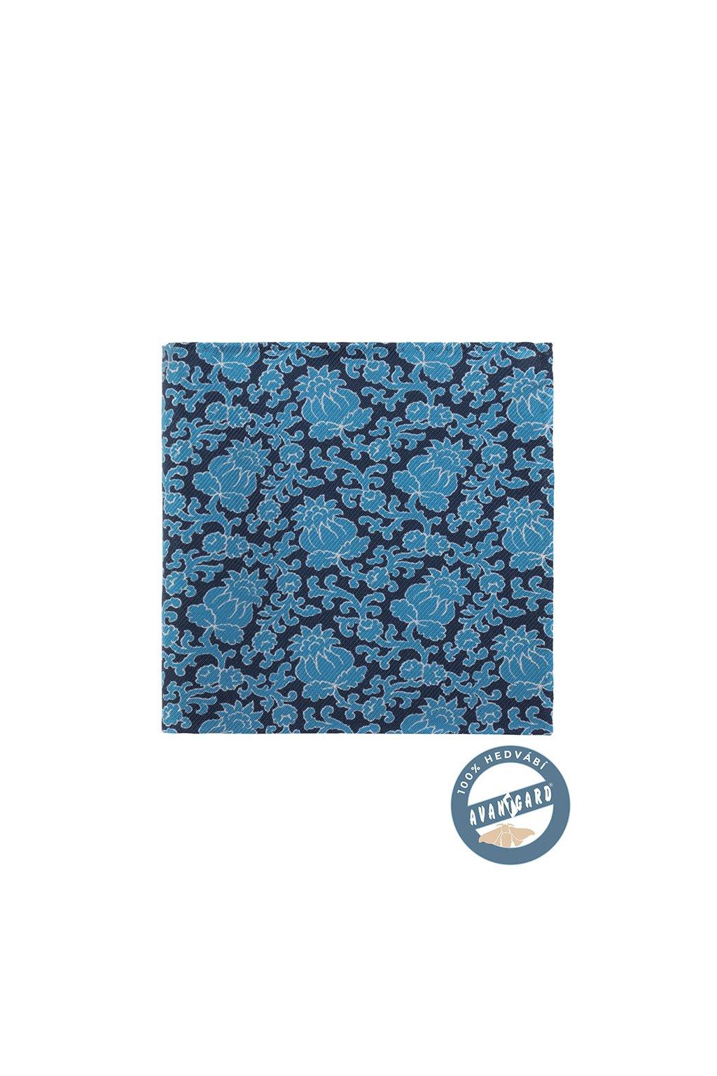 Kapesníček do saka hedvábný PREMIUM, 610-5749, Modrá