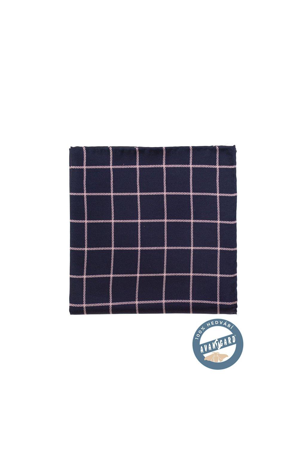 Kapesníček do saka hedvábný PREMIUM, 610-5756, Modrá/pudrová