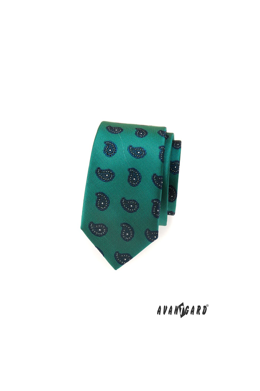 Kravata SLIM LUX, 571-62304, Zelená