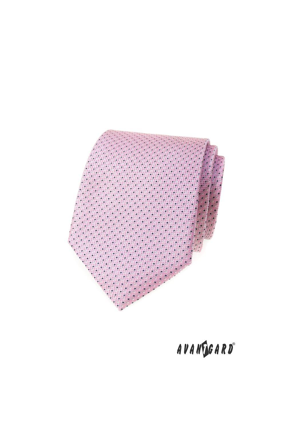 Kravata LUX, 561-62366, Růžová
