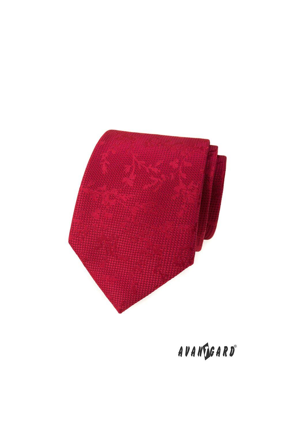 Kravata LUX, 561-62367, Červená