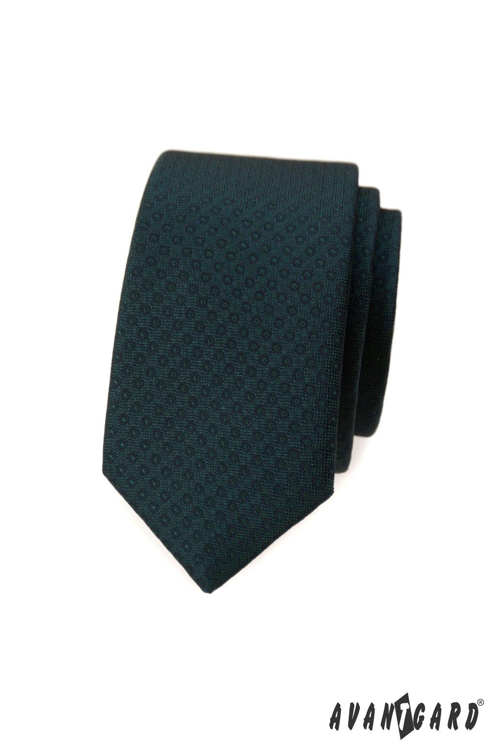 Kravata SLIM LUX, 571-62406, Zelená
