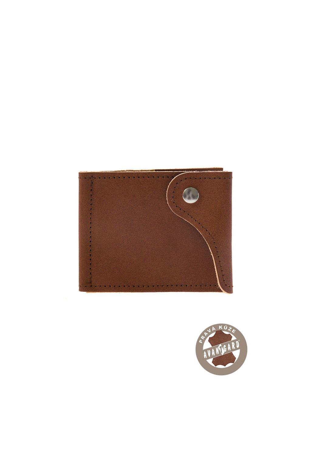 Pánská peněženka z pravé kůže, 800-63, Hnědá