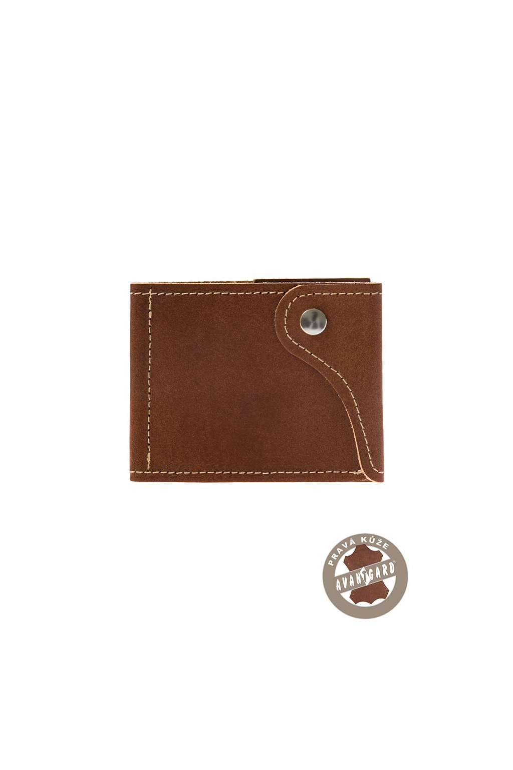 Pánská peněženka z pravé kůže, 800-6315, Hnědá