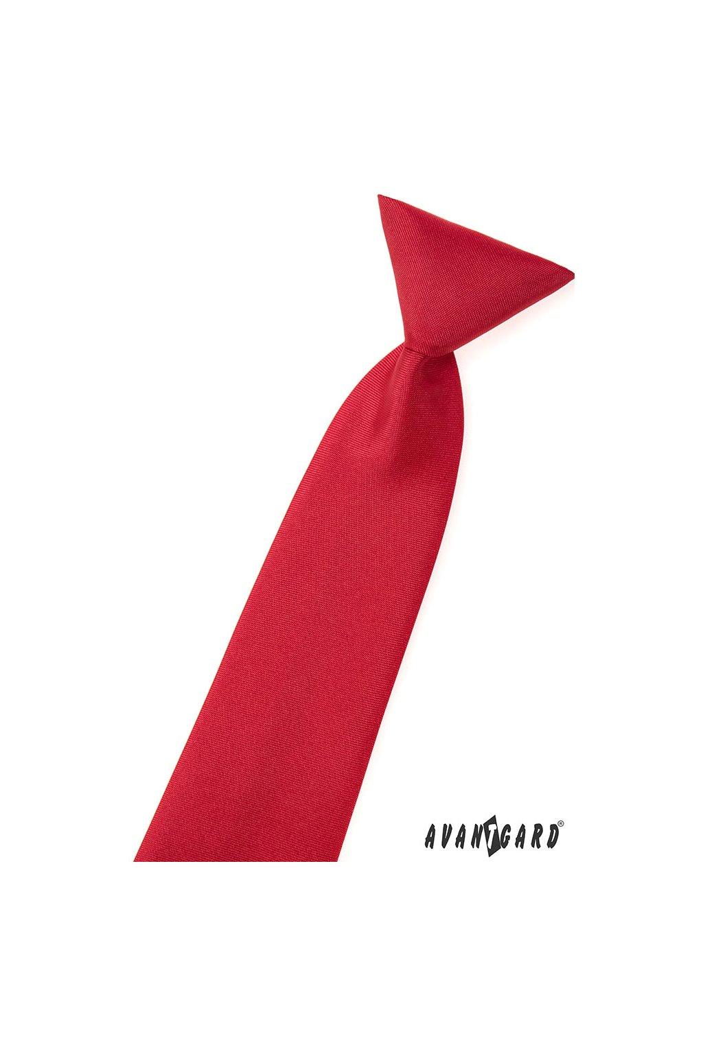 Chlapecká kravata, 558-7058, Červená MAT