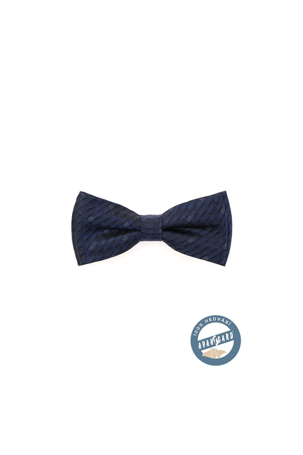 Motýlek PREMIUM hedvábný s kapesníčkem, 624-7706, Modrá