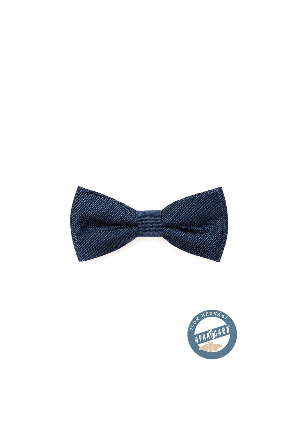 Motýlek PREMIUM hedvábný s kapesníčkem, 624-7710, Modrá