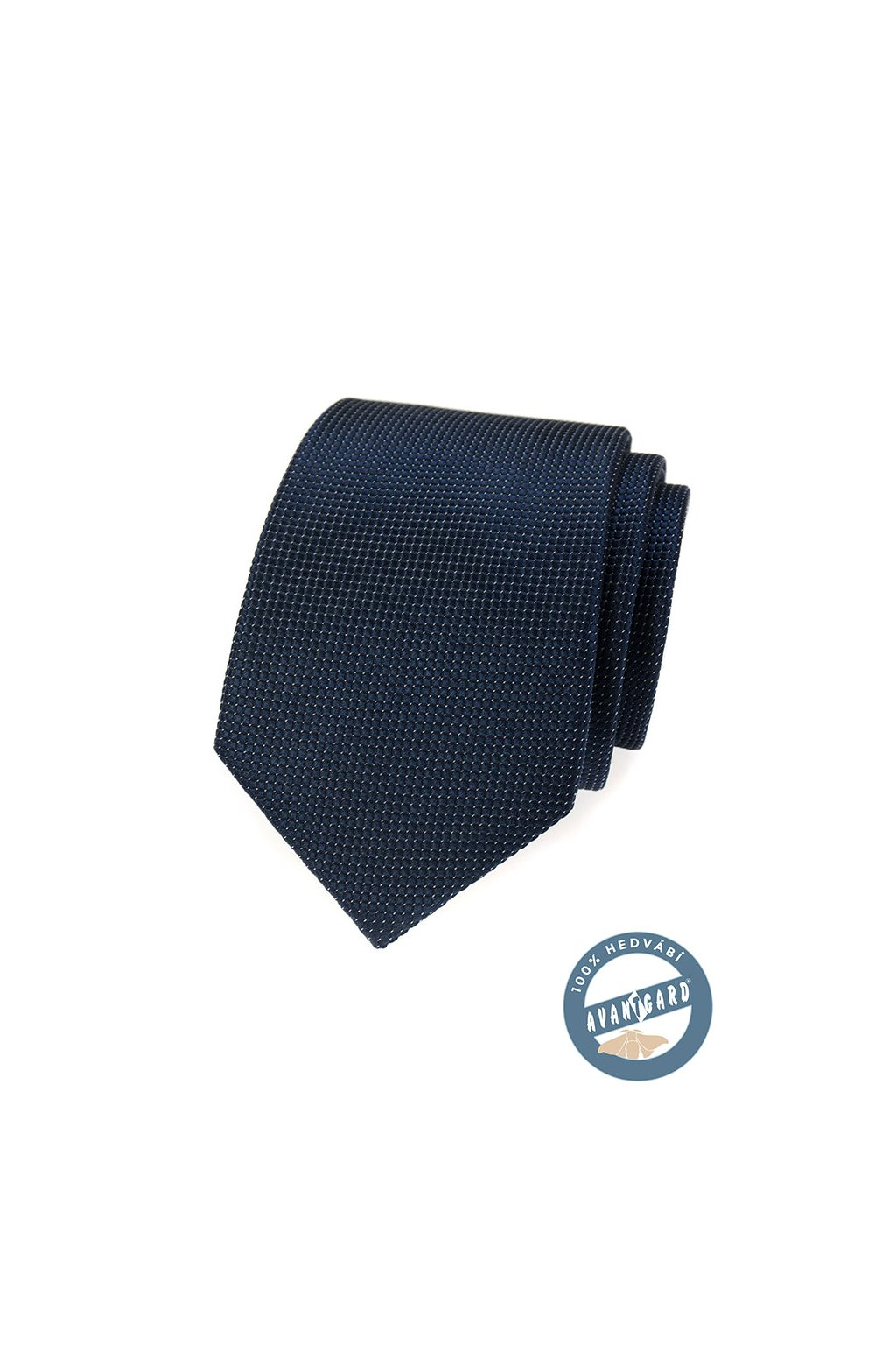 Kravata hedvábná v dárkové krabičce, 621-7726, Modrá