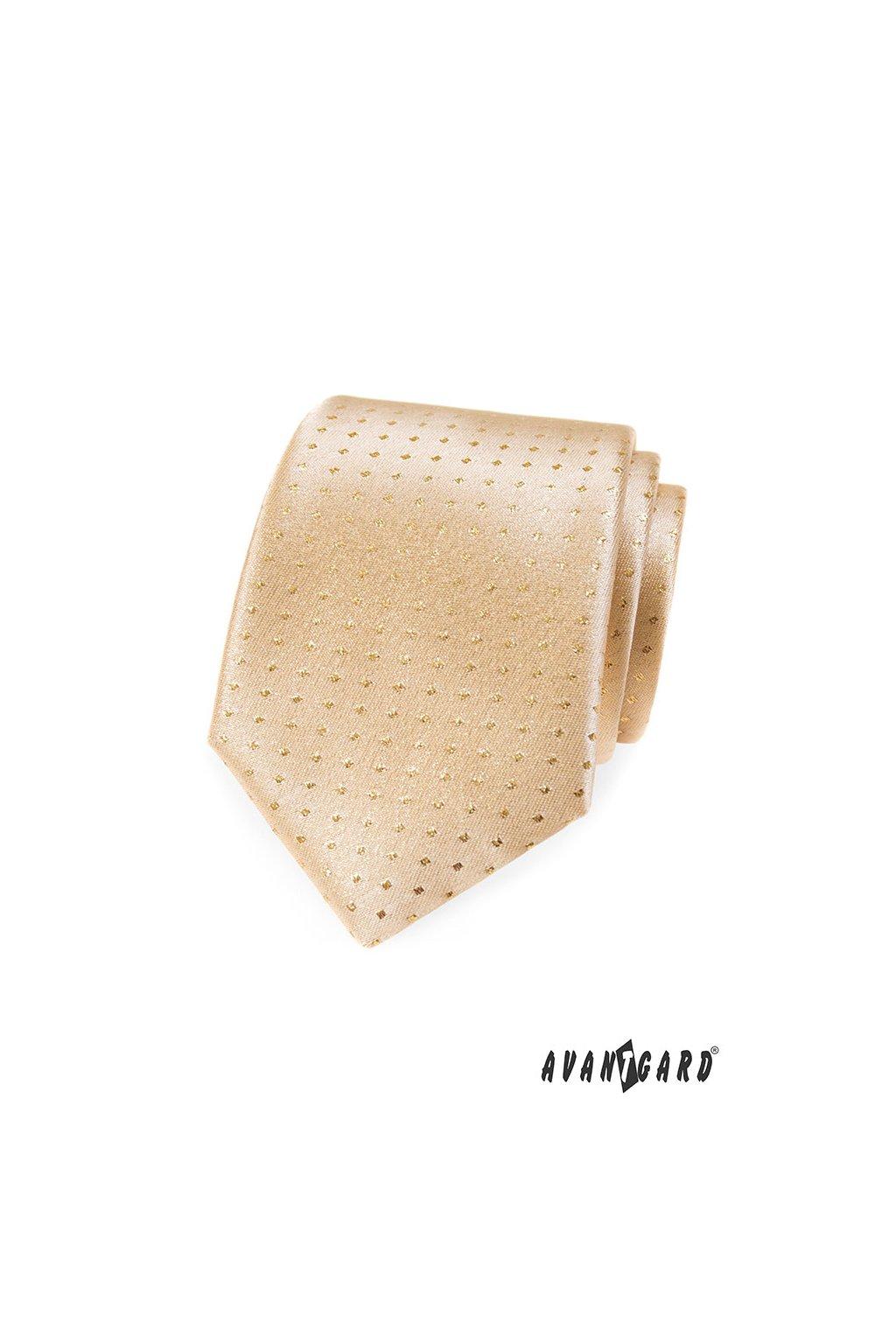 Kravata LUX, 561-81230, Zlatá