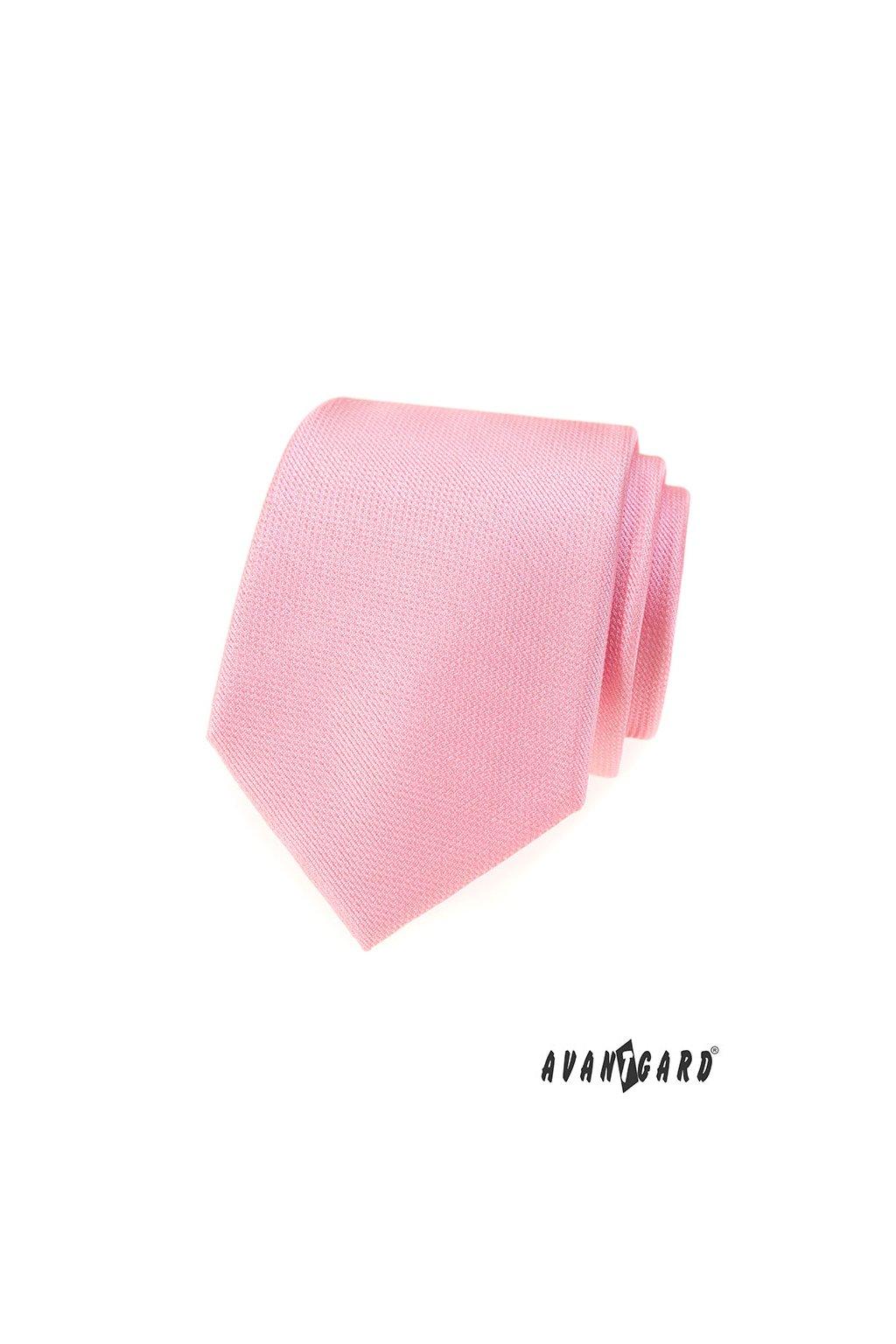 Kravata LUX, 561-81281, Růžová