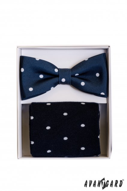 Set motýlek a ponožky, 779-05003, Modrá s puntíkem