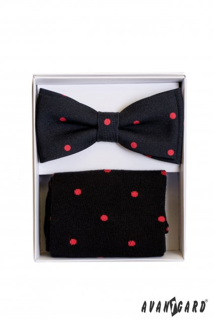 Set motýlek a ponožky, 779-05005, Černá s puntíkem