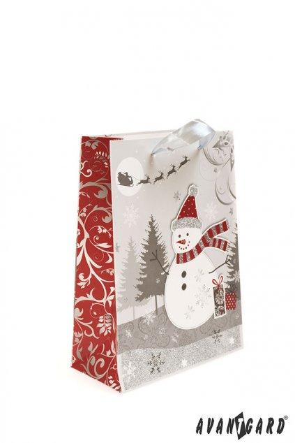 Dárková taška - vánoční , 936-22, Stříbrná