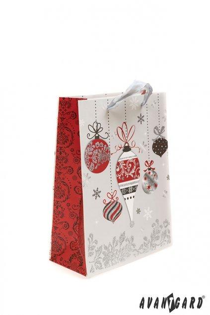 Dárková taška - vánoční , 936-21, Stříbrná