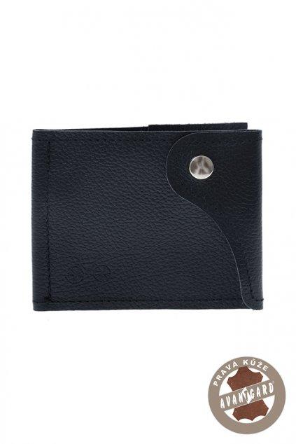 Pánská peněženka z pravé kůže, 800-313109, Modrá/kolo