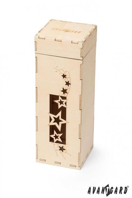 Dřevěná dárková krabička, 924-3701, Přírodní dřevo