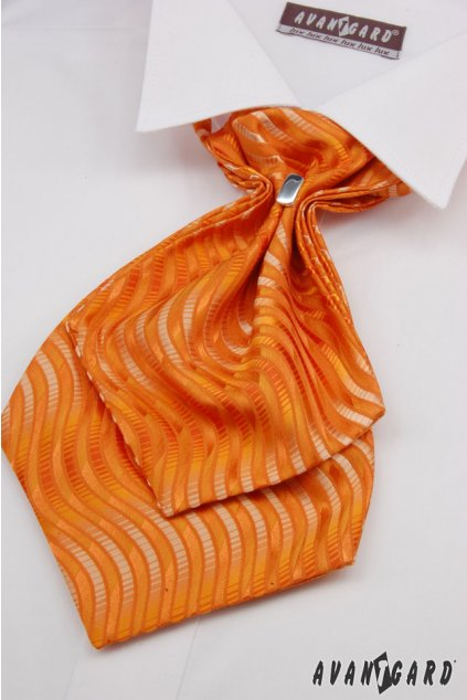 Plastron a kapesníček, 554-71112, Oranžová