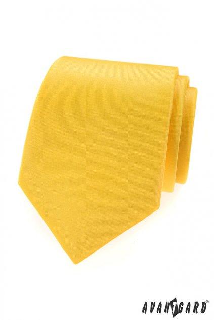 Kravata LUX, 561-9927, Žlutá MAT