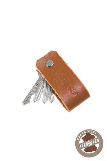 Klíčenka z pravé kůže , 805-69, Hnědá