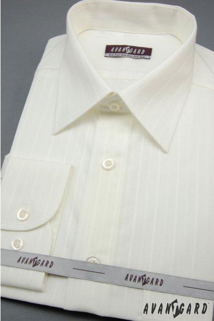 Pánská košile KLASIK, 527-90017, Smetanová
