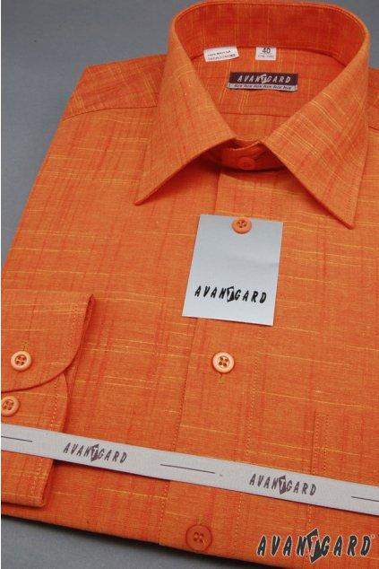 Pánská košile LUX, 564-6146, Pomerančová
