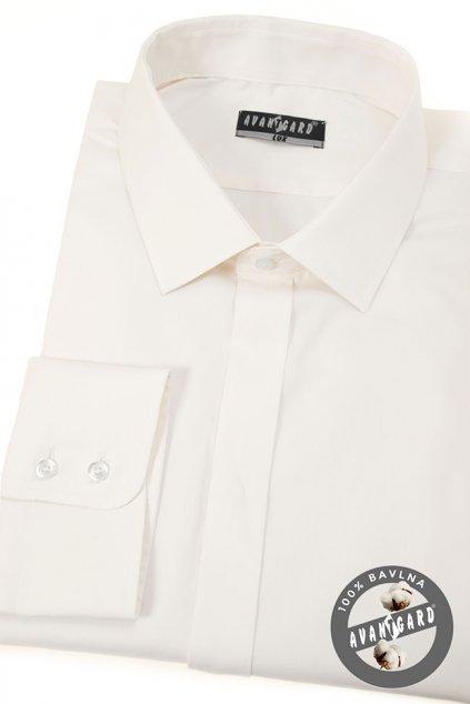 Pánská košile KLASIK s krytou légou, 532-206, Smetanová