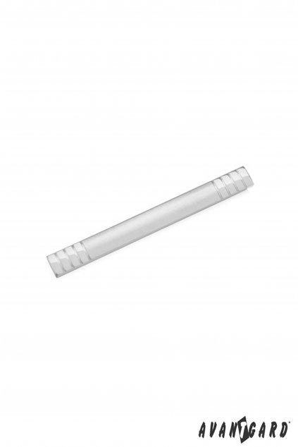 Spona na kravatu SLIM, 572-20119, Stříbrná mat/lesk
