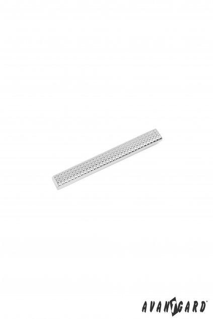 Spona na kravatu SLIM, 572-20121, Stříbrná