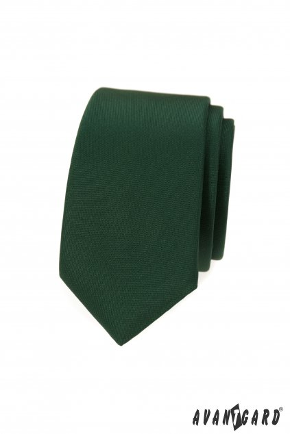 Kravata SLIM LUX, 571-9948, Zelená MAT