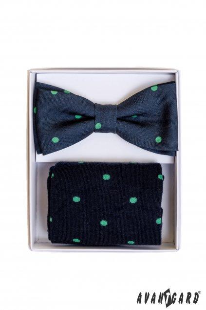 Set motýlek a ponožky, 779-05006, Modrá s puntíkem