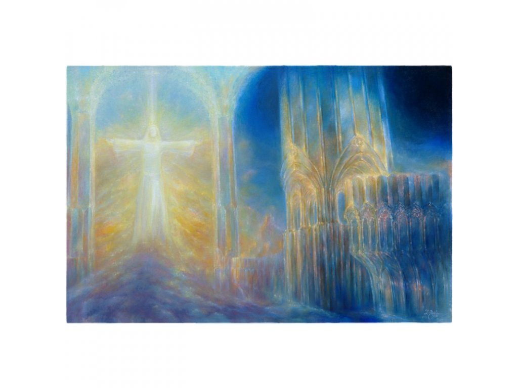 obraz v chramu 120 x 80 cm