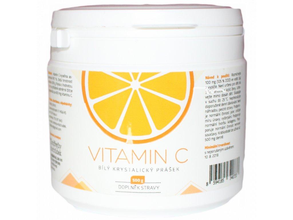 vitamin c 500g bily krystalicky prasek
