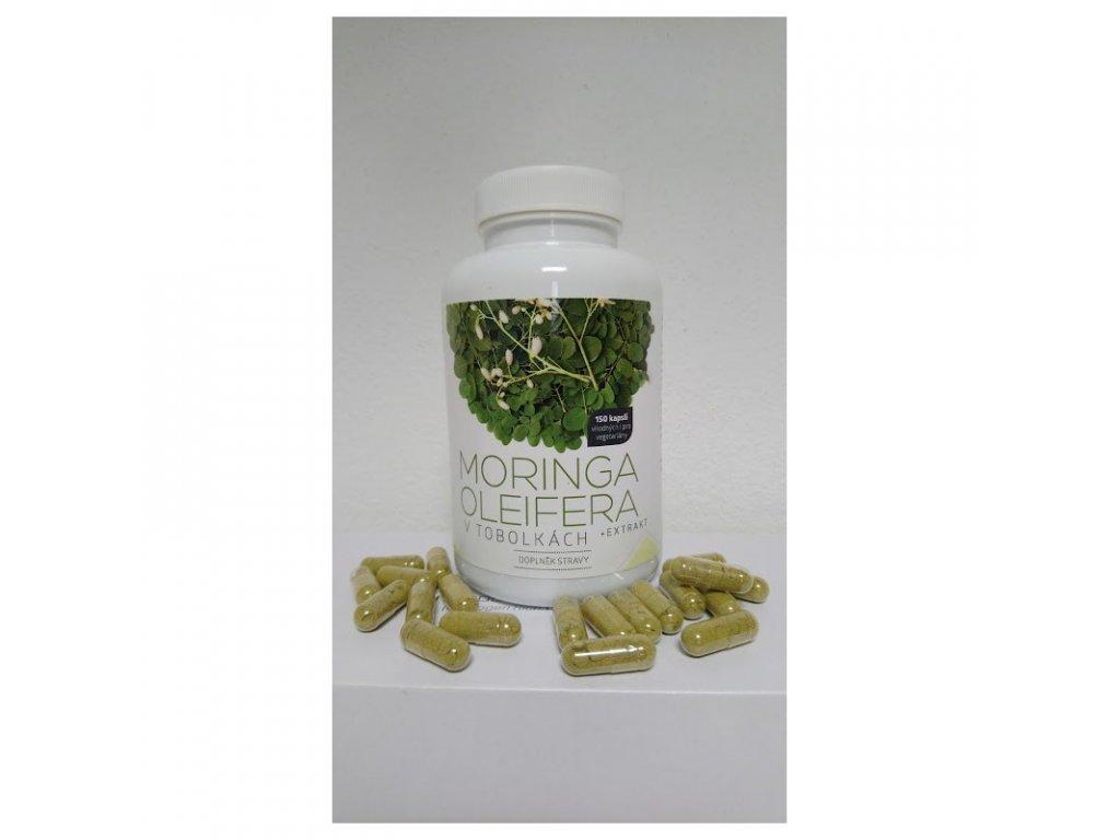 moringa oleifera celulozove tobolky 150ks