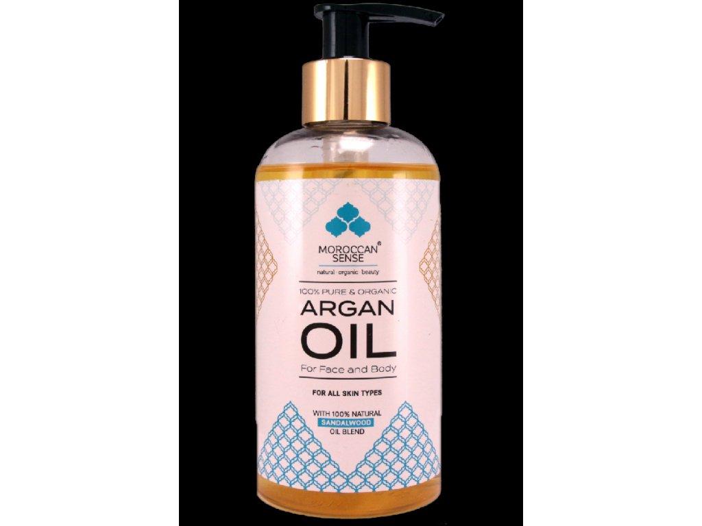 arganovy olej pro plet a telo santalove drevo 250 ml