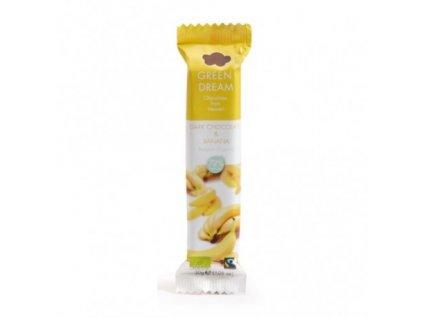 bio horka cokoladova tycinka s bananem 30g