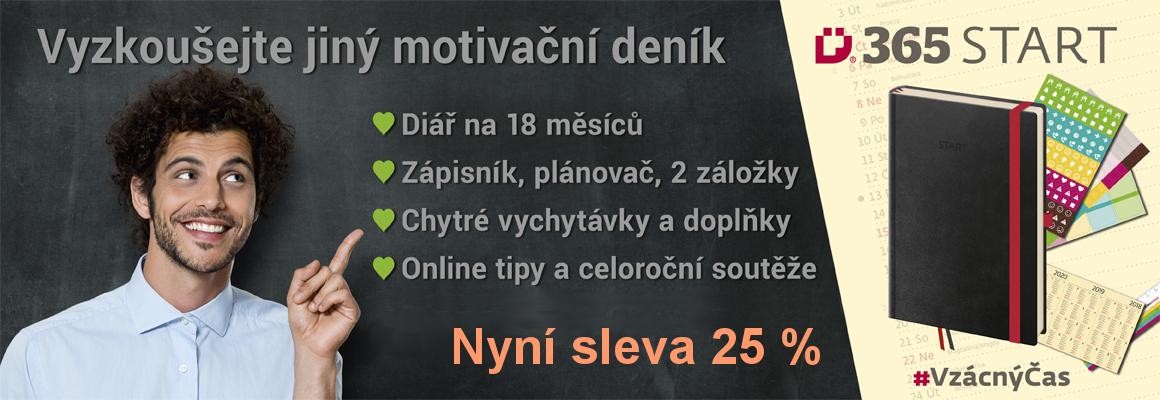 Motivační deník 365 START s dopravou zdarma od 1 kusu